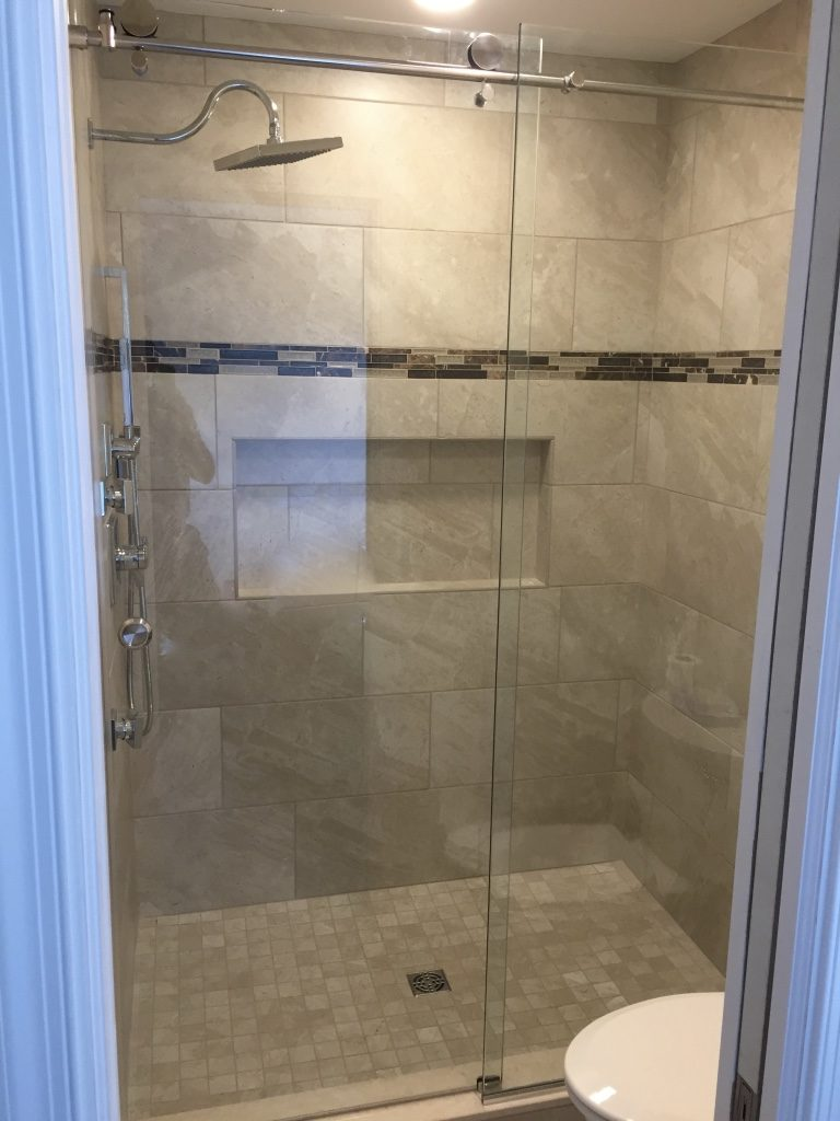 Barn Style Sliding Glass Shower Door Richmond Va Rva Frameless